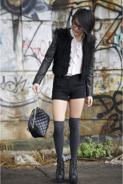 st lennys jacket - leather Jeffery Campbell boots - leather Alannah Hill bag