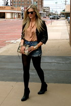 Forever 21 blouse - Rebecca Minkoff bag - Urban Outfitters shorts