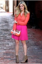 salmon Forever 21 blouse - hot pink Old Navy skirt
