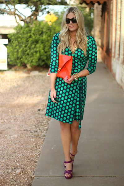 Gap dress - versace sunglasses - BCBG wedges