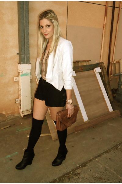 off white Indigenous Imports blazer - peach H&M shirt - dark brown Target bag -
