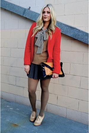 lulus blouse - Forever 21 blazer - lulus skirt