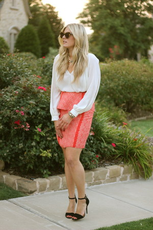 ruby red tracy reese skirt - dark brown Karen Walker sunglasses