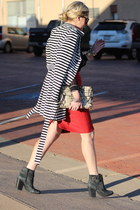 Rebecca Minkoff bag - Lucky Brand boots - Anthropologie skirt