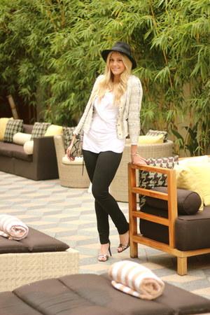 off white Zara blazer - gray Rebecca Minkoff bag