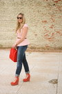 Navy-gap-jeans-red-asos-bag