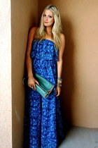 blue patterson j kincaid dress - dark brown Steve Madden sandals