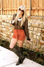 Gray-maude-boots-carrot-orange-urban-outfitters-shorts-dark-brown-vintage-bl