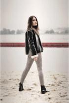 shoes - jacket - leggings - Mohito bag - top