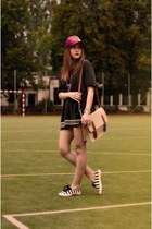 bag - shoes - shorts - necklace - t-shirt - pull&bear bracelet
