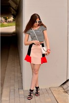 bracelet - bag - H&M sunglasses - top - skirt - Zara heels