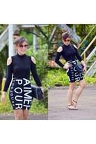 Forever 21 skirt - Chanel bag - Forever 21 top - Zara sandals