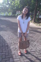 blouse - Zara shorts - Chloe accessories - accessories - shoes