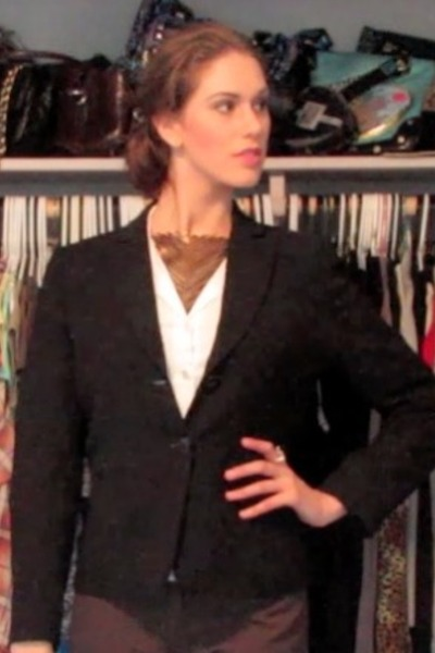 Romeo and Juliet Couture blouse - Express blouse - BCBG blazer