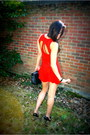Red-playsuit-motel-rocks-dress-black-classic-chanel-bag