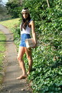 Za-shoes-chanel-bag-blue-bebe-shorts-white-mcq-t-shirt