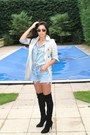 Casadei-boots-mac-zara-jacket-denim-shirt-topshop-shirt