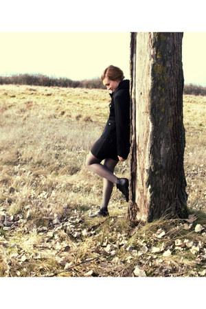 black H&M jacket - black Sisley blouse - black DIY skirt