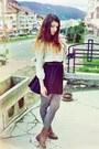 Bershka-shirt-black-h-m-skirt