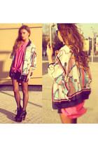 cream romwe jacket