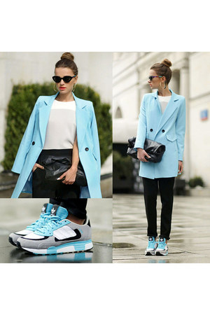 turquoise blue Adidas sneakers