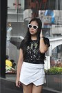 White-origami-skort-apartment-8-skirt-white-baroque-prada-sunglasses