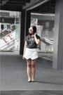White-baroque-prada-sunglasses-black-ballerina-h-m-flats