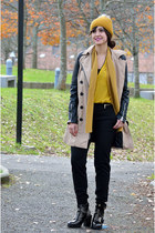 H&M shirt - asos boots - Stradivarius coat - H&M pants
