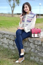 Bershka jeans - River Island shoes - colett shirt - Bershka bag - Mango vest