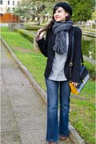 green coast jeans - Bershka blazer - Stradivarius shirt - pull&bear bag