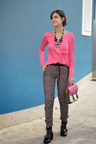 Bershka bag - asos shoes - Bershka pants - Bershka blouse - luba accessories