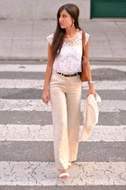 bers top - Mango pants - Zara sandals