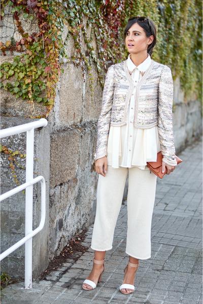 bdba jacket - Sheinside shirt - bolsoland bag - hawkers sunglasses - Mango pants