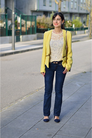 Zara jacket - suiteblanco jeans - River Island t-shirt - Stradivarius heels