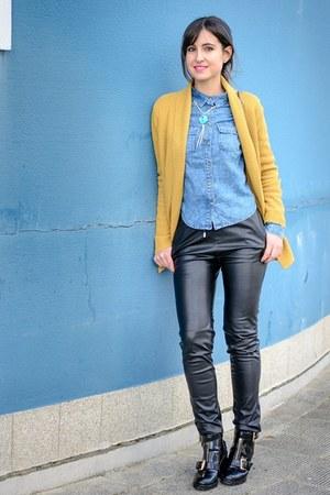 Bershka shirt - asos boots - Forever 21 jacket - Bershka pants