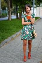 Topshop dress - JustFab heels - Zara necklace