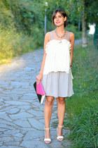 Sheinsidecom shirt - Mango skirt - Zara heels