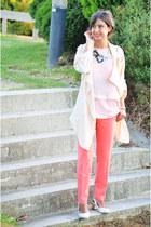 Sheinside jacket - Mango blouse - asos pants