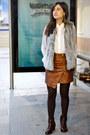 Mango-shirt-suiteblanco-vest-h-m-skirt