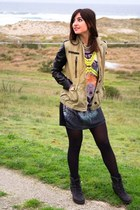 Bershka jacket - Bershka dress - Stradivarius necklace