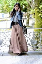 pull&bear skirt - caroche jacket - Stradivarius shirt - Sfera belt