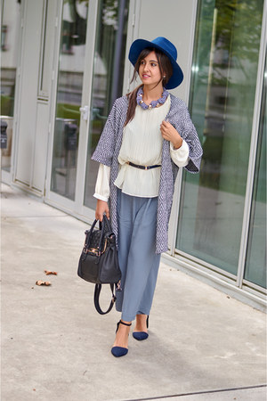 asos bag - H&M cardigan - Stradivarius heels - suiteblanco necklace