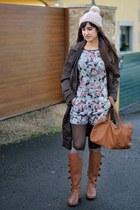 Bershka romper - Bershka boots - BLANCO bag - Calzedonia socks