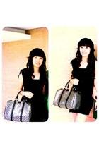 black no brand dress - black Gucci bag
