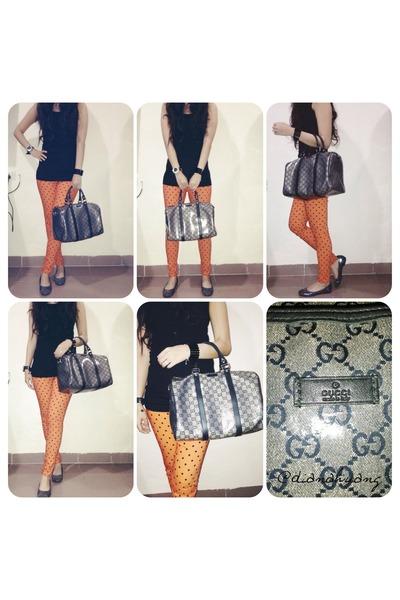 black Gucci bag - black simple new look top