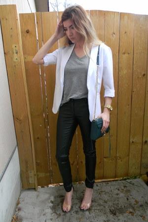 Forever 21 shirt - Macys blazer - Rebecca Minkoff bag - Forever 21 pants