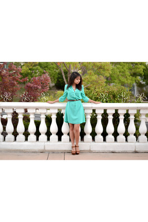 chiffon Charlotte Russe dress - suede Off Fifth Avenue Shoes heels