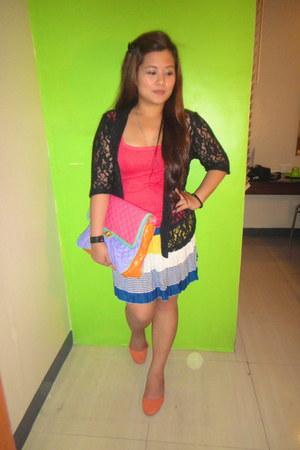 Juicy Couture bag - striped SM skirt - Terranova top - SM flats