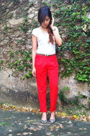 plain v-neck giordano shirt - pants