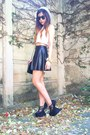 White-cropped-top-topshop-top-black-leather-skater-fahion-diary-cebu-skirt